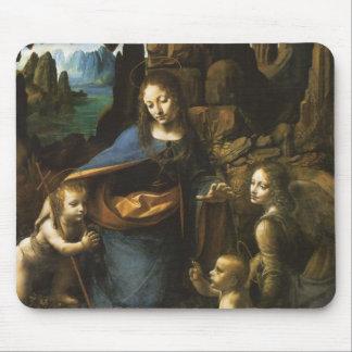 Madonna of the Rocks by Leonardo da Vinci c.1483 Mouse Pad