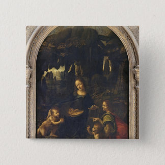 Madonna of the Rocks, c.1478 15 Cm Square Badge