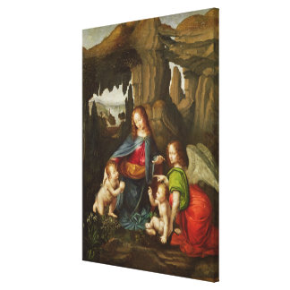 Madonna of the Rocks Canvas Print
