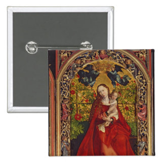 Madonna of the Rose Bower, 1473 15 Cm Square Badge