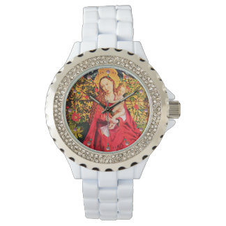 MADONNA OF THE ROSE BOWER ,PINK AMETHYST GEMS WATCH
