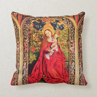 MADONNA OF THE ROSE BOWER THROW PILLOW