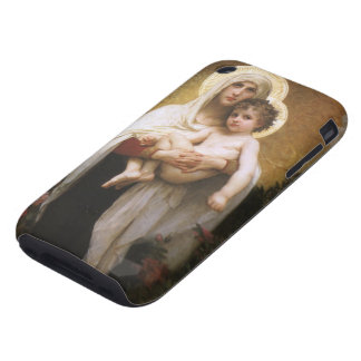 Madonna of the Roses, Bouguereau, Vintage Realism iPhone 3 Tough Cases