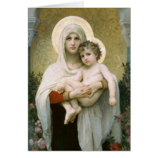 Madonna of the Roses by Bouguereau Card