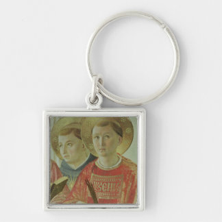 Madonna of the Shadow, detail of St. Thomas Silver-Colored Square Key Ring