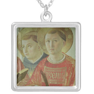 Madonna of the Shadow, detail of St. Thomas Silver Plated Necklace