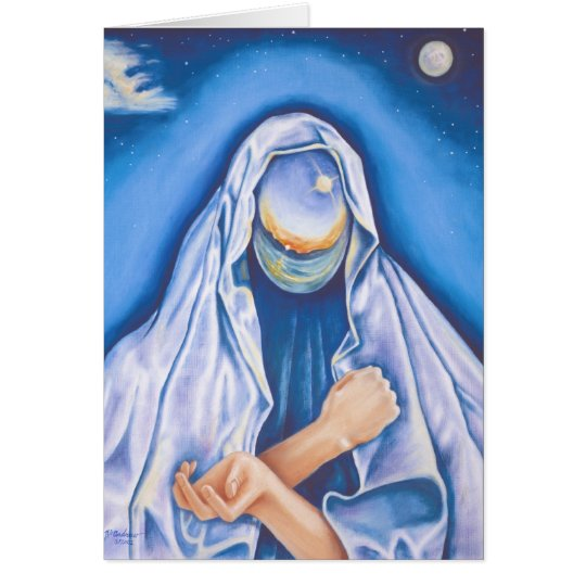 """Madonna of the Universe"" Spiritual Note Card"