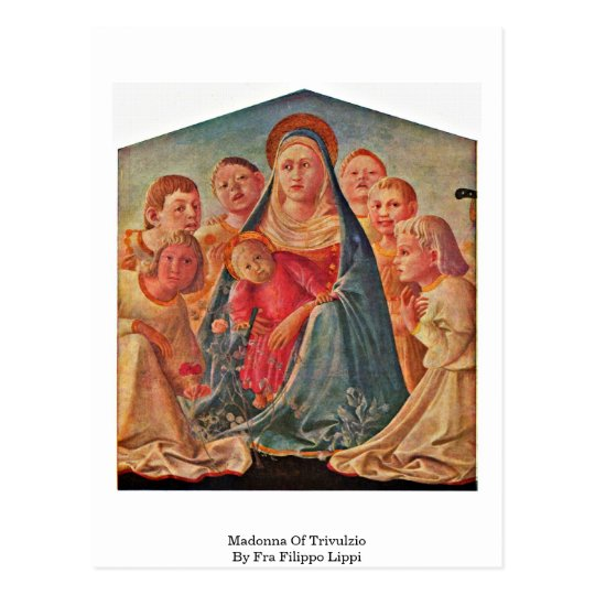 Madonna Of Trivulzio By Fra Filippo Lippi Postcard