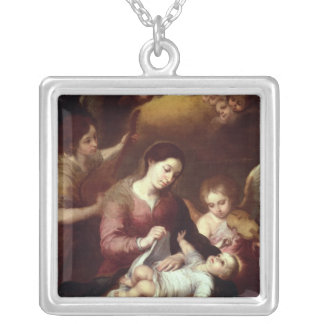 Madonna Silver Plated Necklace