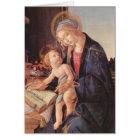 Madonna teaches the child Jesus Card