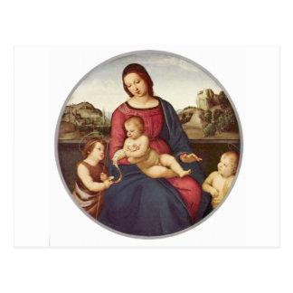 Madonna Terranuova by Raphael Postcard
