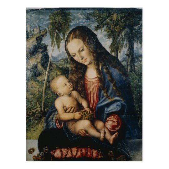 Madonna under the fir tree, c.1510 postcard