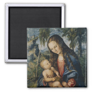 Madonna under the fir tree, c.1510 square magnet