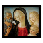 Madonna with Child, St Jerome and Mary Magdalene Poster
