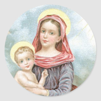 Madonna with Christ Child Stickers