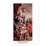 Madonna With Saints By Sebastiano Ricci Postcard