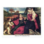 Madonna With Saints By Titian Postcard