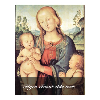 Madonna With St. John The Baptist By Perugino 21.5 Cm X 28 Cm Flyer