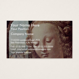 Madonna With The Carnation  By Leonardo Da Vinci Business Card