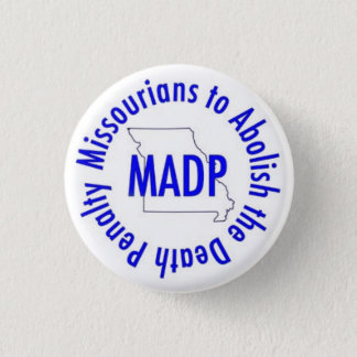 MADP button, white 3 Cm Round Badge