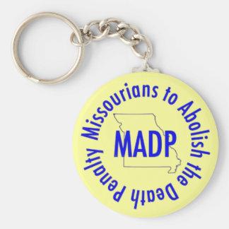 MADP keychain, yellow Key Ring