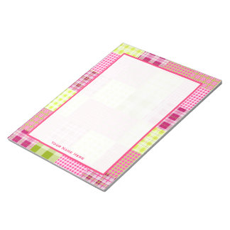 Madras Plaid Patchwork Inspired Notepad