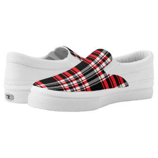 Madras Plaid Pattern Printed Shoes