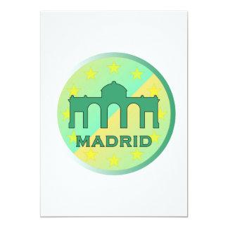 Madrid 13 Cm X 18 Cm Invitation Card