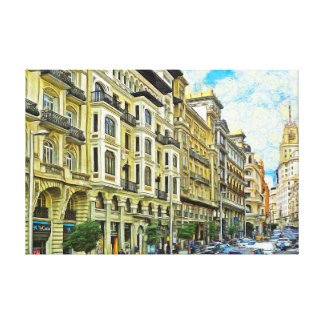 Madrid. Architecture of Gran Vía Canvas Print