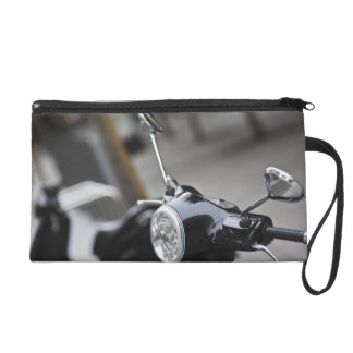 Madrid, black Vespa scooter Wristlet