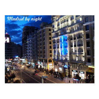 Madrid by night postcard