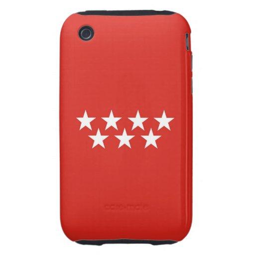 madrid city flag case spain stars iPhone 3 tough cases