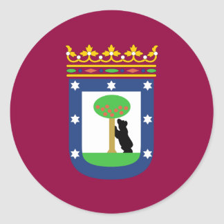 Madrid Flag Classic Round Sticker