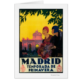 Madrid in Springtime Travel Promotional Poster Greeting Card