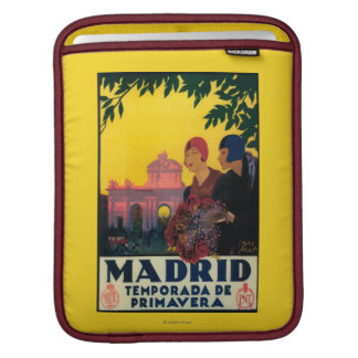 Madrid in Springtime Travel Promotional Poster iPad Sleeve