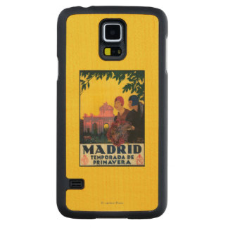 Madrid in Springtime Travel Promotional Poster Maple Galaxy S5 Slim Case