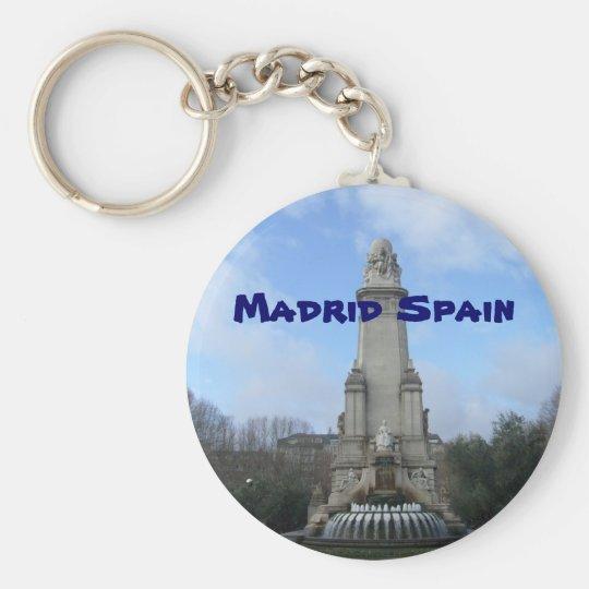 madrid keychain