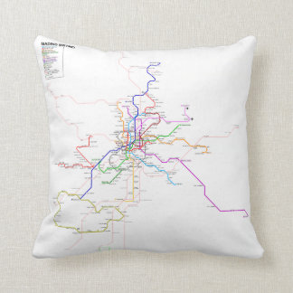Madrid Metro - Spain Cushion