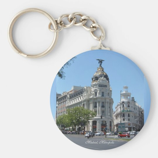 Madrid Metropolis, Basic Button Keychain