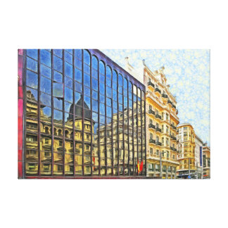 Madrid. Reflection. Connection of uncombinable. Canvas Print