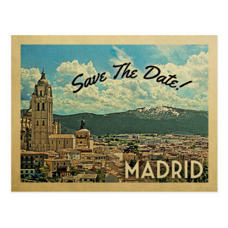 Madrid Save The Date Spain Postcard