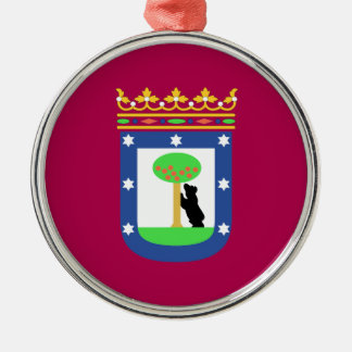 Madrid Spain (City) Flag Christmas Ornament
