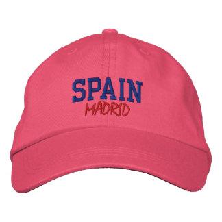 MADRID,SPAIN CUSTOM EMBROIDERED BASEBALL CAPS