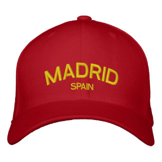 Madrid Spain Embroidered Hat