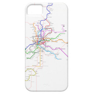 Madrid (Spain) Metro Map iPhone 5 Cases