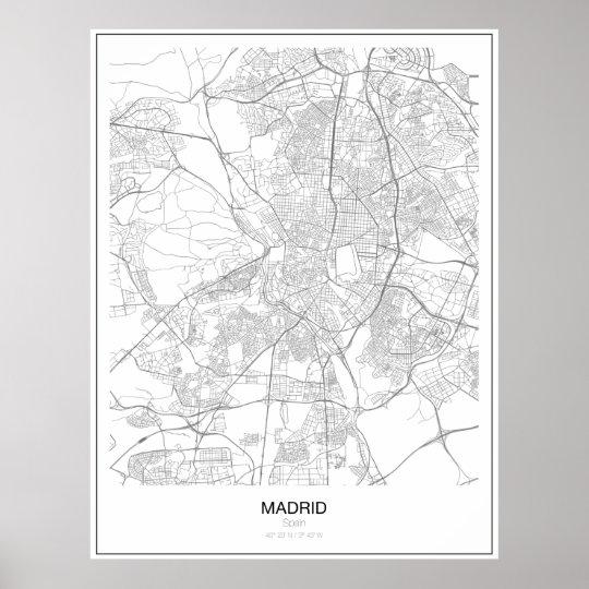 Madrid, Spain Minimalist Map Poster