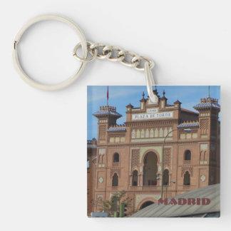 Madrid Spain Single-Sided Square Acrylic Keychain