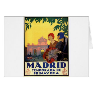 Madrid Temporada de Primavera - Vintage Art Poster Card