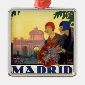 Madrid Temporada de Primavera - Vintage Art Poster Christmas Ornament