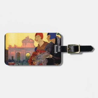 Madrid Temporada de Primavera - Vintage Art Poster Luggage Tag